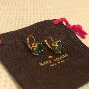 Kate Spade turquoise drop down earrings